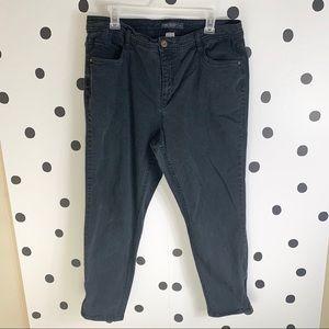 🌈5/$25🌈Faded Glory black jeans zipper ankle 16